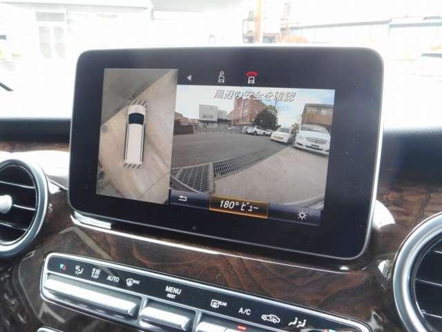 自車を真上から見下ろすように周囲の状況を映像で把握できる360°カメラシステム・見通しの悪い私道から車道に出る場合など左右の状況をあらかじめ確認が可能