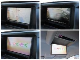 純正HDDナビが装備されております♪画面もクリアで運転中も確認しやすいです♪後席モニター装備でDVDの視聴もお楽しみ頂けます♪ミュージックサーバーも搭載されておりますのでお好きな音楽を録音してください♪