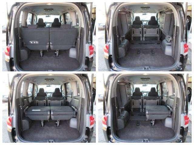 Bプラン画像:ラゲッジスペースは後部座席を左右に引っかけることで更に広々とした収納スペースが確保出来ます♪フロアもフラットになりますので荷物の出し入れもラクラクです♪好みの用途に応じてシートをアレンジして下さい♪