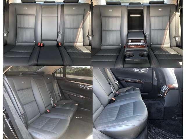 使用感の少ない綺麗なセカンドシート。足元のゆとりも広く、電動シートなのでロングドライブでも快適にお過ごしいただけます♪