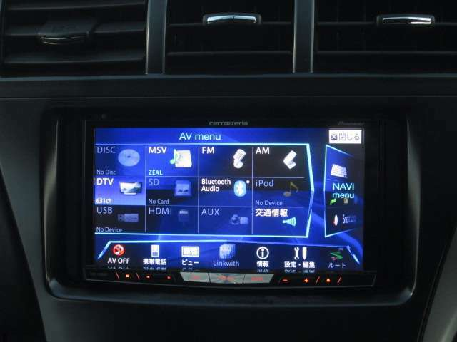 HDDナビです♪フルセグTV&CD録音&DVDビデオ再生&Bluetoothです♪楽しい時間をおすごしになることができますね♪