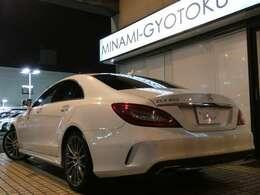 人気のCLS400AMGライン レーダーセーフティPKGが入庫!外外装色には煌びやかな輝きが魅力のダイヤモンドホワイトメタリックを配色!内外装共に程度良好な1オーナー車両ですのでオススメの1台です!