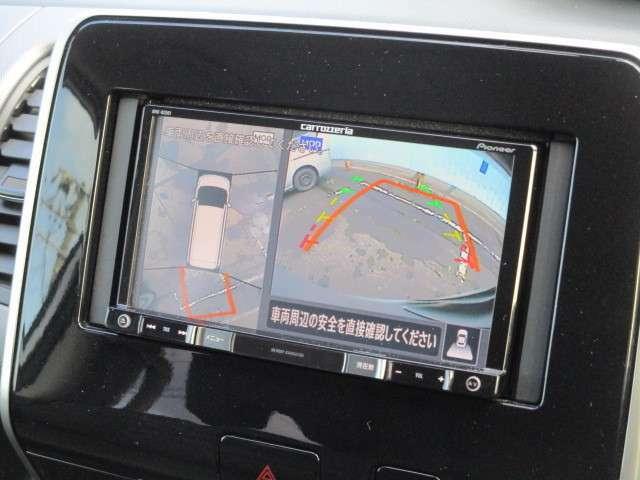 360度アラウンドビューモニターとバックカメラで駐車が苦手な方でも安心です!