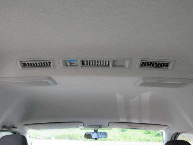 後席もエアコン風量調整可能!
