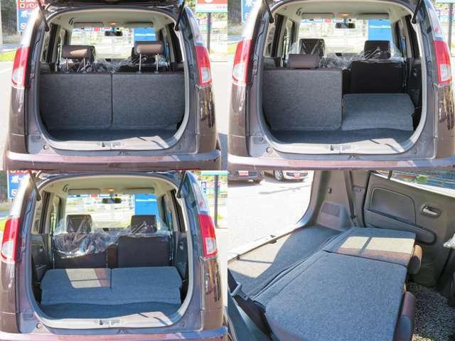 広い車内はご満足いただけます!乗用車からの御乗換えの方急増中!写真の通りたくさんの荷物を積むスペースがあります!