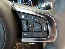 アダプティブクルーズコントロール。高速道路や渋滞時、先行車の減速、停止を検知し、安全な車間距離を保ちます。渋滞時は自動的に追従走行を行います。