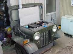 え?これは?暇なので作っちゃいました!廃油タンクジープカバーです。