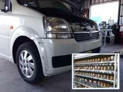 ◇国産車全メーカーの鈑金塗装が可能です。ディーラーの塗装部門で修業をしましたので、安心してお任せください!