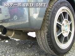 ▲SSターボ/4WD/5MTというマニアックな組み合わせ。