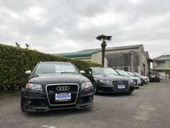 展示場には、アウディSラインモデル以上のS・RSを厳選し展示販売。