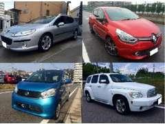 国産車以外にも欧州車、アメ車、仕入れは色々です。予算に合わせて、ご希望の1台をお探しも致します。