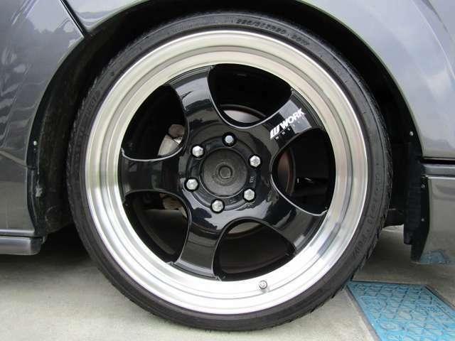 WORKエクストラップ20インチ!!タイヤの残り溝も前後共にしっかり残っております!!
