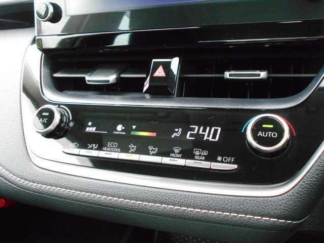 オートエアコン★温度の設定をすれば車内を快適な温度に保ってくれます♪ナノイー付きでさらに快適です♪
