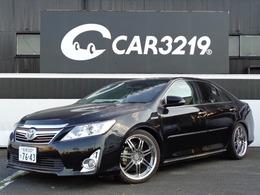トヨタ カムリハイブリッド 2.5 レザーパッケージ 車高調 WORK19AW 社外テール黒革シート