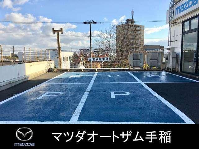Aプラン画像:お客様駐車場を広く設けております♪国道5号線沿いショールーム前駐車場が満車の場合は整備工場前駐車場をご利用くださいませ♪