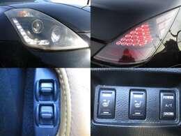 社外ヘッドライト テール 電動シート シートヒーター