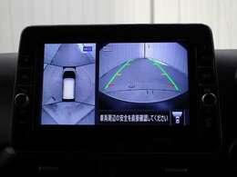 車両周辺を真上から見たような広範囲の映像を表示し、安全運転をサポートする「インテリジェント アラウンドビューモニター(移動物 検知機能付)」を装備しています。