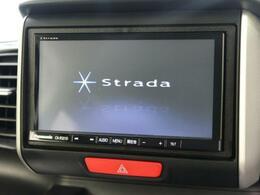 パナソニック ストラーダナビを装備!【地デジフルセグTVの視聴やDVD・CD再生、ミュージックプレイヤー接続、Bluetooth機能などが備わっております♪】