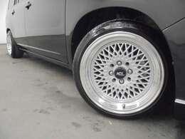 社外15インチAW】【ACV】&ダウンサス装着!!タイヤサイズは、185/45R15になります。※車検非対応の為、車内にノーマルタイヤを積み込んでご納車致します!!