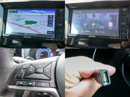 KENWOOD製フルセグメモリーナビ「MDV-D706BTW」付き。ステアrングリモコン・Bluetooth・USB対応です