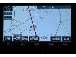 純正SDナビゲーション(NSZT-Y66T)  初めて行く場所も道に迷うことなく安心です。