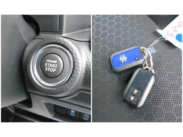 エンジンプッシュスタートシステムなので鍵をかばんやポケットに入れたままでも、エンジン始動・停止をワンタッチ操作で行うことが出来ます☆