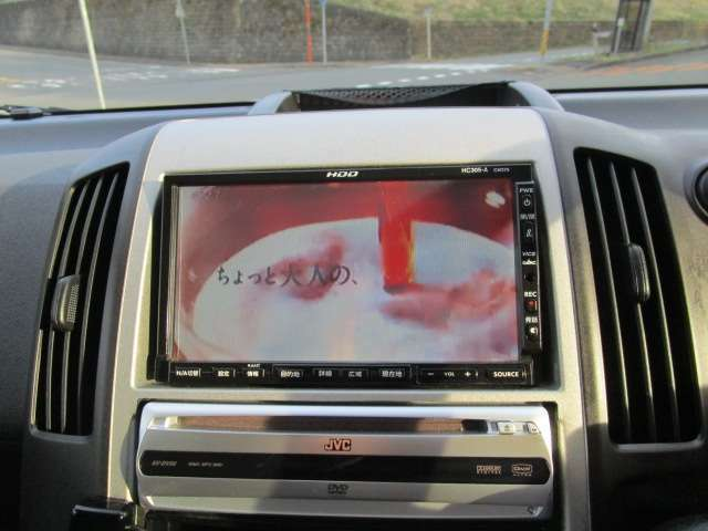 純正HDDナビ・ワンセグのテレビも映ります!