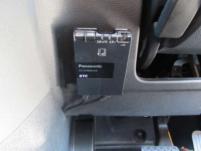 ETC車載器があらかじめ付いておりますので、ノンストップで料金所を通過出来ますよ♪