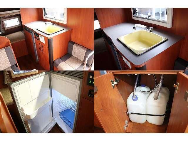 シンク(給排水各20L) 冷蔵庫90L