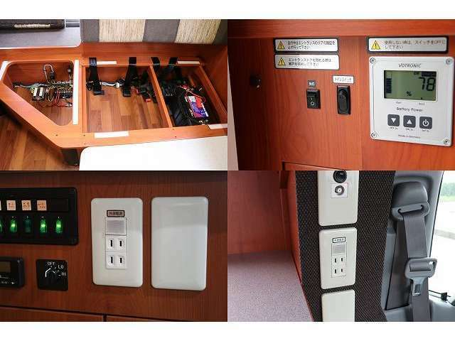 メインスイッチ VOTRONICメーター サブバッテリー 各種スイッチ 12V/100V