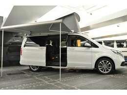 ◆車中泊のために必要な装備品を身にまとったのが「V220d マルコポーロ ホライゾン」です◆