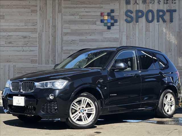 平成26年式 BMW X3 Xドライブ20d Mスポーツ入庫しました。お問い合わせ052-625-4092まで!インテリジェントセーフティ 純正HDDナビTV バックカメラ ハーフレザー シートメモリー パワーバックドア LED