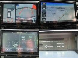 ☆通信ユニット内蔵の日産純正メモリーナビ、車内空間に溶け込む美しい装着感です。