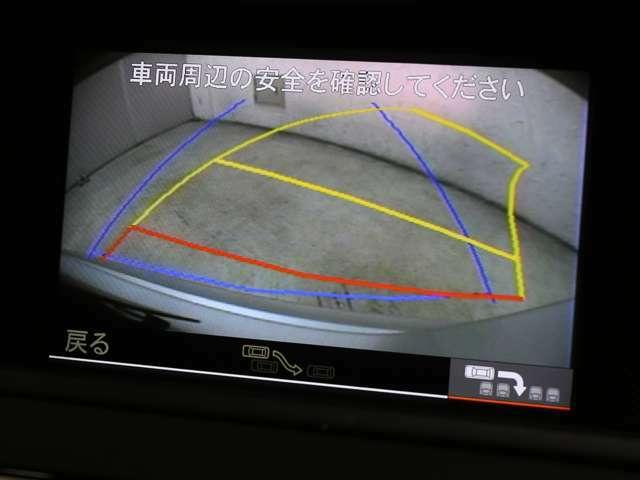 駐車時に大変便利なバックカメラを搭載!