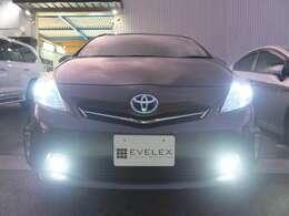 ヘッドライト&フォグランプ&ポジション球&ナンバー灯、全て新品LEDに交換しております!!