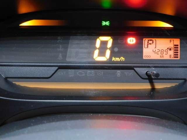 スピードの表示はデジタル表記で分かりやすいです◎