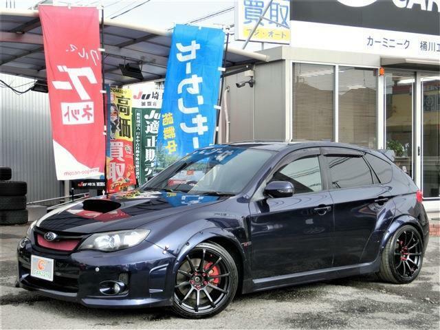 世界に誇れるWRX STI☆多くのドライバーを魅了してきた熱き鼓動を再び・・アプライドC型/SI-DRIVE/クルコン/STI黒革シ-ト/BLITZ車高調/18インチAW/SHORINエアロ/オ-バ-フェンダ-/HKSエアクリ!