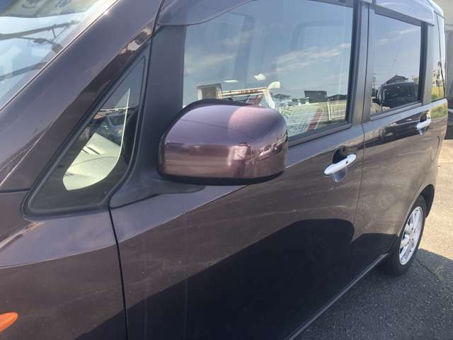 ミラーの写真です。駐車、斜線変更で使うので大切ですね♪