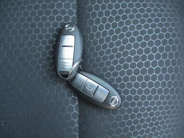 持っているだけでドアの開閉が出来るインテリジェントキーが備わっています。