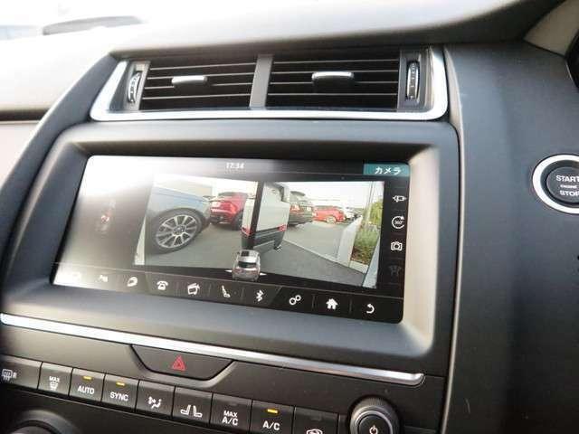 全方位を映し出すことの出来るカメラシステムを搭載しています。狭いところでも安心して運転することが出来ます。