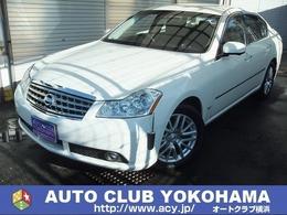 日産 フーガ 3.5 350GT 1年走無制限保付黒革ハーフシート純ナビHID