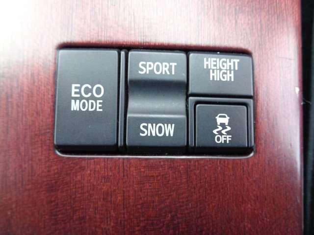 ハイトコントロール・トラクションコントロール・エコ・スポーツ・スノーモード等、状況に応じて設定をお選びいただけます♪