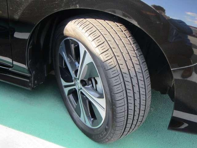 タイヤの溝もまだまだ安心!