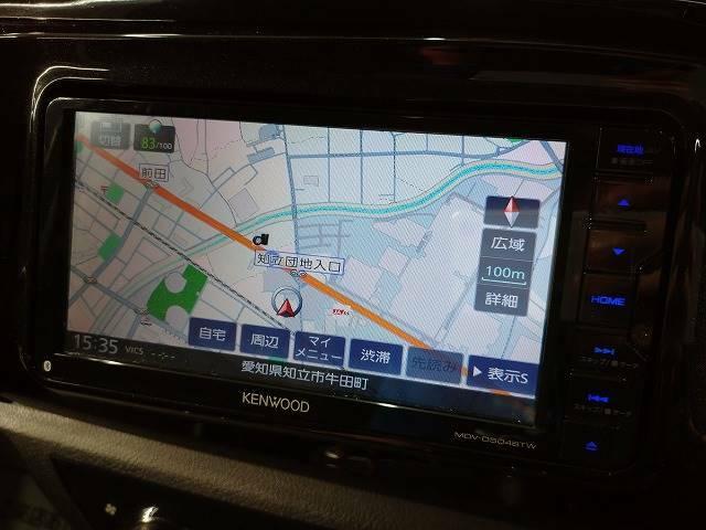 ケンウッドSDナビを装備でロングドライブも快適です。フルセグTV視聴可能!