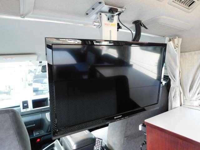 シャープ19インチモニター フィルムアンテナ車載TVチューナー DVDプレイヤー