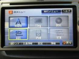 CD/DVD/AUX端子に対応