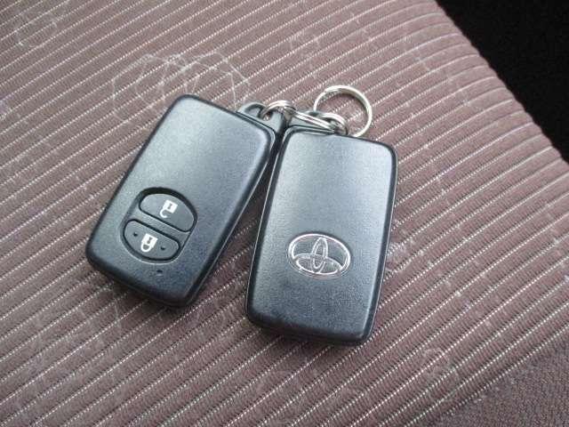 便利なスマートキー。鞄に入れたままでドアの施錠やエンジン始動ができます