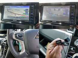 KENWOOD製フルセグTV・Bluetooth・DVD対応のメモリーナビ『MDV-D706BTW』付いています。ステアリングリモコン対応!