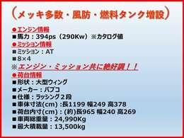 フロントメッキ/300Lタンク増設/