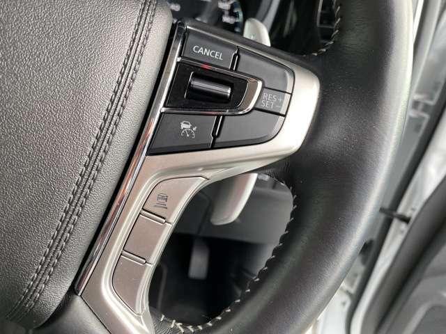 追従型のレーダーオートクルーズは前車との車間距離を取りながら、自動でアクセル、ブレーキを制御する先進技術の装置です。